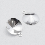 14mm Silver-Plated Rivoli Settings, Pkg. of 10