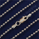 18 Inch Italian Sterling Silver 2mm Ball Chain