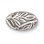 TierraCast Botanical Bead, Antique Silver