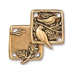 TierraCast Botanical Birds Link, Antiqued Gold