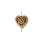 TierraCast Celtic Heart Bead, Antique Gold