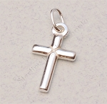 Sterling Silver Cross Charm Double-Sided, 11x8 mm