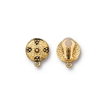 TierraCast Opulence Earring Clip, Antiqued Gold