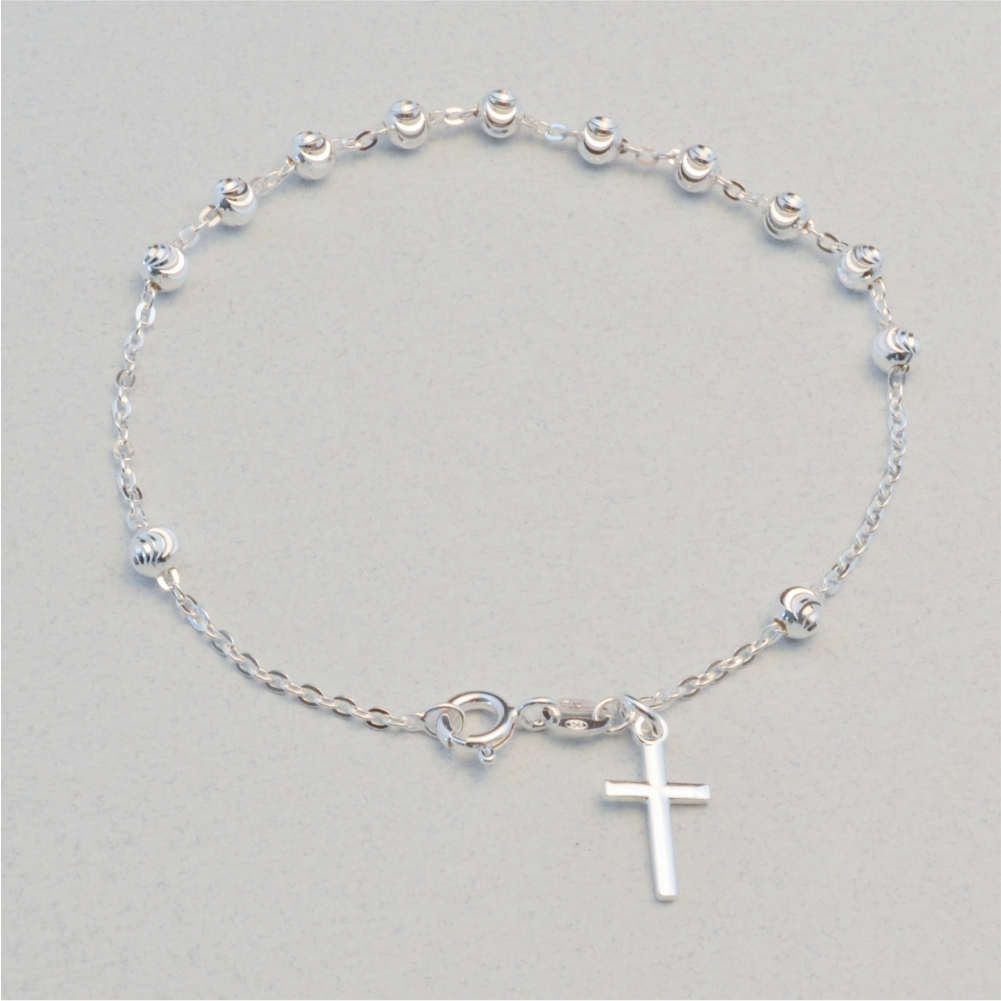 Sterling Silver Rosary Bracelet 7 5 Inches Sterling Jewelry Supply
