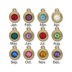Swarovski TierraCast Stepped Bezel Birthstone Drops, Gold
