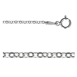 16 Inch Sterling Silver 1.5mm Diamond Cut Rolo Chain