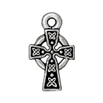 TierraCast Small Celtic Cross Drop, Antique Silver