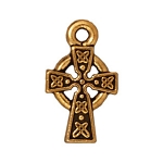 TierraCast Small Celtic Cross Drop, Antique Gold