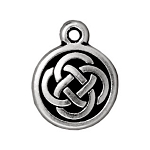 TierraCast Celtic Round Drop, Antique Silver