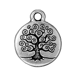 TierraCast Tree of Life Drop, Double-Sided Antique Silver