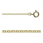 18 Inch 14Kt Gold-filled 1.2mm Flat Cable Chain