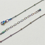 20 Inch Multicolor Stainless Steel Station Ball Chain for Floating Locket