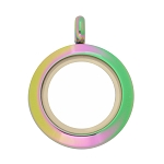 20mm Twist Multicolor Stainless Steel Floating Locket