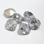 10mm CRYSTAL BLUE SHADE Swarovski Cushion Cut Fancy Stone
