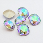 10mm CRYSTAL PARADISE SHINE Swarovski Cushion Cut Fancy Stone