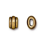 TierraCast Small Deco Barrel Bead, Antique Gold