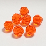 Hyacinth 6mm Swarovski Faceted Round, Pkg. of 12