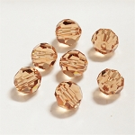 Light Smoked Topaz 6mm Swarovski Faceted Round, Pkg. of 12