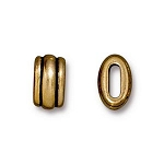TierraCast Large Deco Barrel Bead, Antique Gold