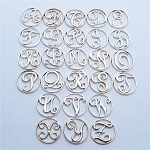 Large Silver Plated Monogram Screen for Floating Locket