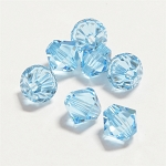 Aquamarine 6mm Swarovski Xilion Bicone, Pkg. of 12