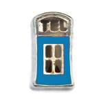Blue Phone Booth Charm