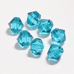 Blue Zircon 3mm Swarovski Xilion Bicone, Pkg. of 24