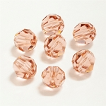 Blush Rose 6mm Swarovski Faceted Round, Pkg. of 12