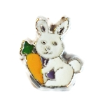 Bunny with Carrot Charm