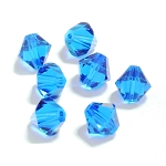 Capri Blue 3mm Swarovski Xilion Bicone, Pkg. of 24