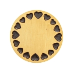 Large Gold Stainless Steel Circle of Hearts Backplate