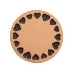 Large Rose Gold Stainless Steel Circle of Hearts Backplate