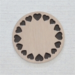Large Stainless Steel Circle of Hearts Backplate