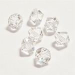 Crystal 3mm Swarovski Xilion Bicone, Pkg. of 24