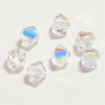 Crystal AB 3mm Swarovski Xilion Bicone, Pkg. of 24