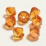 Crystal Copper 3mm Swarovski Xilion Bicone, Pkg. of 24