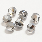 Crystal Silver Night 6mm Swarovski Faceted Round, Pkg. of 12