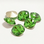 10mm FERN GREEN Swarovski Cushion Cut Fancy Stone