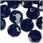 Dark Indigo 6mm Swarovski Faceted Round, Pkg. of 12