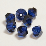 Dark Indigo 3mm Swarovski Xilion Bicone, Pkg. of 24
