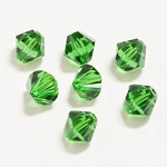 Dark Moss Green 3mm Swarovski Xilion Bicone, Pkg. of 24