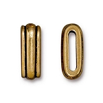 TierraCast Deco Slide Bead, Antique Gold