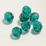 Emerald 6mm Swarovski Faceted Round, Pkg. of 12