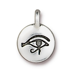 TierraCast Eye of Horus Charm, Antique Silver