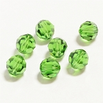 Fern Green 6mm Swarovski Faceted Round, Pkg. of 12
