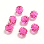 Fuchsia 8mm Swarovski Faceted Round, Pkg. of 6