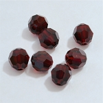 Garnet 8mm Swarovski Faceted Round, Pkg. of 6