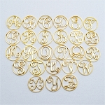 Large Gold Plated Letter Screen for Floating Locket