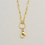32 Inch Gold Stainless Steel Diamond Link Chain with Clasp for Floating Locket