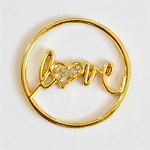 Love Screen Gold Plated for Floating Locket